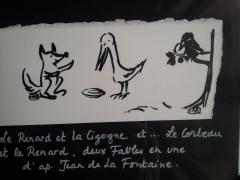 Le Renard entre cigogne et corbeau, M-A Garo