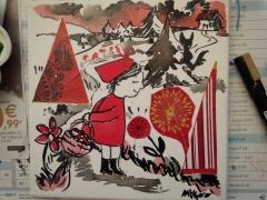 Le Petit Chaperon rouge en route