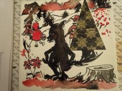 Le loup derrière le chaperon rouge