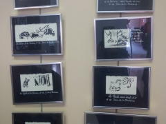 encres de Chine sur lesFables, oeuvres originales MA Garo