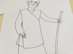 illustration biblique pour Noël : Joseph. DR M-A;Garo