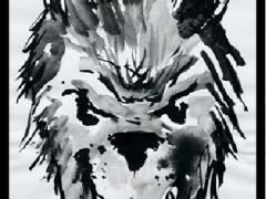 Loup : le masque qui fait peur, encre de Chne? MA Garo.